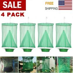 4 pcs The Ranch Fly Trap Outdoor Fly Trap Killer Bug Cage Net Perfect For Horses $11.95