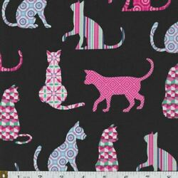 Cat Fabric 100% Novelty Cotton Kitty FQ HY or Yard Animal $3.95