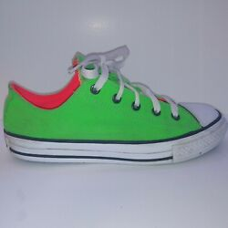 Chuck Taylor Converse All Star Women 6 Junior 4 Green Pink Low Double Tongue $31.99