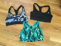Pack of Three Women's Champion Sports Bra Size Large $19.98