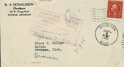 USA 1927 COMMERCIAL COVER TO BRONSON USED W 532