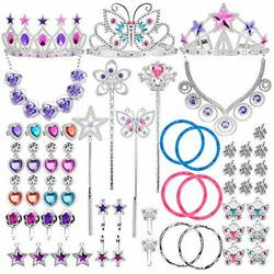 Princess Jewelry Dress Up Accessories Toy Playset for Girls 50 pcs