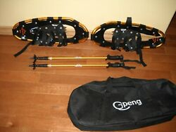 Gpeng 821 Terrain Snowshoes Men Women Youth 21quot; Gold Aluminum One needs repaired $65.00