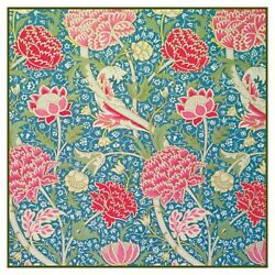 Arts and Crafts Cray in Teal Pink by William Morris Counted Cross Stitch Pattern $9.74