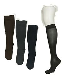 Legacy Women#x27;s Sz L Graduated Compression Socks Set of 4 Black A388345 $19.99