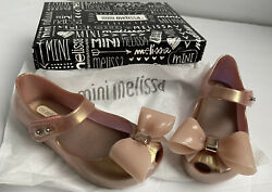 Toddler Size 8 Pink Mini Melissa Mini Ultragirl Bow III Mary Jane New In Box $26.00