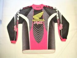 Vintage Fox Motocross Racing Honda Jersey Size L Youth Shirt Good Cond Pre Owned $30.00