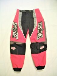 Vintage Fox Motocross Racing Pants Size 24 Youth Good Condition Pre Owned $40.00