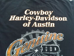 AUSTIN Texas Cowboy HARLEY Davidson Mens Womens Black T Shirt Tee S SM Small HD $21.99