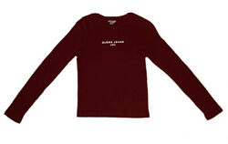 Vintage Guess Jeans USA Maroon Long Sleeve Womens M L Made In Peru $26.95