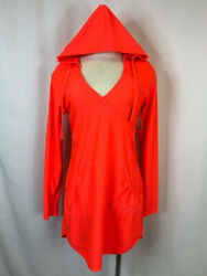 ATHLETA Women Size M neon orange Dress
