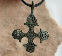 Antique Viking Age Cross with a #x27;triskele#x27; like motif 10th 11th AD $65.00