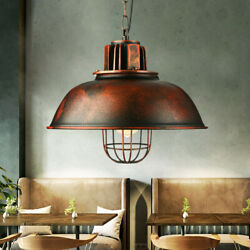 Rustic Lamp Antique Pendant Light Warehouse Vintage Ceiling Hang Lamp Dome Shade $40.00