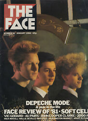 THE FACE MAGAZINE ISSUE 21 JANUARY 1982 DEPECHE MODE SOFT CELL REVIEW OF #x27;81 $25.99