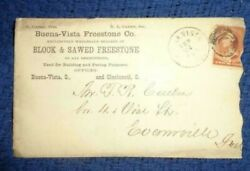 1884 buena vista ohio BUILDING freestone commercial COVER TO EVANSVILLE INDIANA