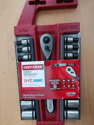 "New Craftsman 19pc Universal Socket and Ratchet Set 1 4"" Drive $52.95"