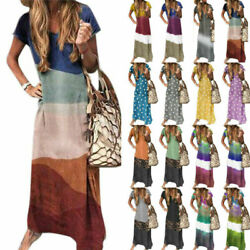 Plus Size Womens Summer Evening Party Dress Holiday Baggy Kaftan Maxi Dresses $21.89