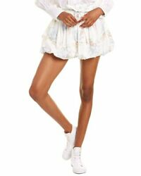 Loveshackfancy Cheyenne Mini Skirt Women#x27;s Blue M $97.00