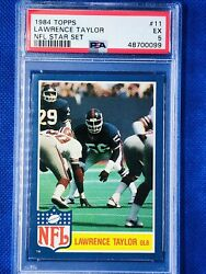 1984 TOPPS LAWRENCE TAYLOR 🐐 #11 NFL STAR SET PSA 5 HOF NY GIANTS🔥 $25.72