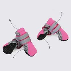 Dog Boots Reflective Lightweight Pet Dog Shoes Paw Protector With Anti Slip Sole $9.99