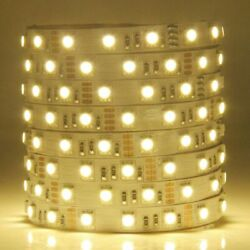 WARM WHITE LED FLEXIBLE 12V STRIP LIGHT 16.4FT 3528 SMD WIRE ROPE WATERPROOF $9.99