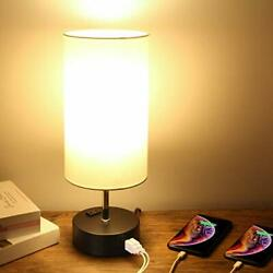Touch Control Table Lamp 3 Way Dimmable Bedside Nightstand Lamp with 2 USB Ch... $34.96