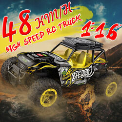 1 16 48km h Remote Control Car RC Electric Monster Truck OffRoad Vehicle To $34.08