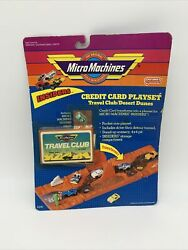 Micro Machines Insiders Credit Card Playset Travel Club Desert Dunes Vintage New $52.97