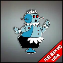 Jetsons Rosie Robot Vaccum Maid Decal Vinyl Wall Sticker 4.5quot; Roomba $3.99