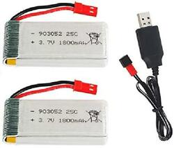 3.7V 1800mah Lipo Battery 25C JST Plug for RC Quadcopter Drone Battery 2 Pack wi $34.38