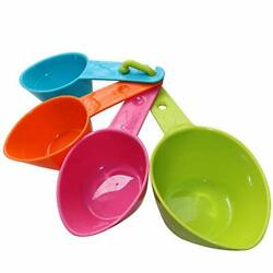 RYPET Dog Food Scoop Set of 4 Plastic Measuring Cups for Dog Cat and Bird F... $13.48