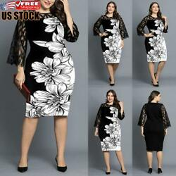 Plus Size Womens Printed Mini Dress Ladies Summer Evening Party Cocktail Dresses $27.39