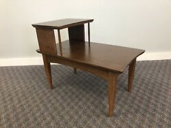 Mid Century Modern STEP TABLE vintage side end accent night stand retro mcm 60s $69.99