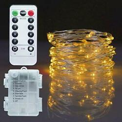 Twinkle Star Christmas Copper Fairy Lights Battery 33 FT Warm White $12.89