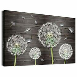 White Dandelion Flower Canvas Wall Art for Bedroom Bathroom Decorations kitch... $19.26