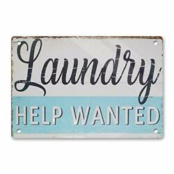 Dajoan Laundry Help Wanted Vintage Decor Signs Wash Room Home Decor Bathroom ... $18.39