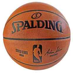 Spalding NBA Game Ball Replica Silver Series Basketball NBA Size and Weight NEW $44.55