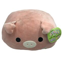 Peter the Pink Pig Stackable 12quot; Squishmallow Plush pillow Easter $13.19