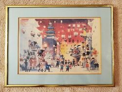 Framed Art by Dong Kingman. PAN AM series San Francisco $15.00