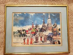 Framed Art by Dong Kingman. PAN AM series Bangkok $15.00