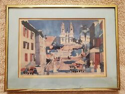 Framed Art by Dong Kingman. PAN AM series Rome $15.00