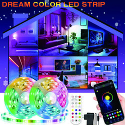 Smart RGB Led Strip Lights with Bluetooth 65ft Led Lights App Contro for Bedroom $15.29