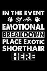In the Event Emotional Breakdown Place Exotic Shorthair Here: Cute Exotic Shorth $11.09