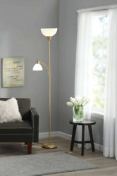 Mainstays 72#x27;#x27; Combo Floor Lamp with Adjustable Reading Lamp $16.99