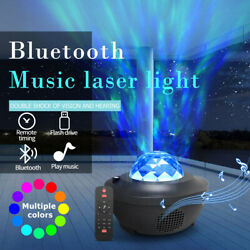USB Bluetooth LED Galaxy Projector Starry Night Lamp Room Party Deco Star Light $26.99
