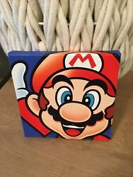 "Pyramid Super Mario Bros Framed Wall Art Decor 6"" x 6"" Nintendo NES $27.99"