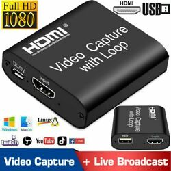 HDMI to USB Video Capture Card 1080P Recorder Phone Game Video Live Streaming US $11.99