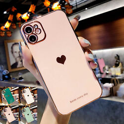 Love Heart Cute Rubber SHOCKPROOF Case For iPhone 12 11 Pro Max XS XR X 7 8 Plus $8.15