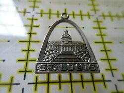 Vintage F Sterling Silver Charm ST. LOUIS Capital Building ARCH $11.99