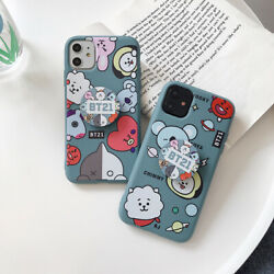 For iPhone 12 Pro Max 11 XS Max XR 7 8 Plus 6s Cute Funny BT21 Phone Case Cover $8.90